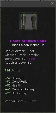 Boots of black spite