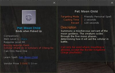 Pet moon child