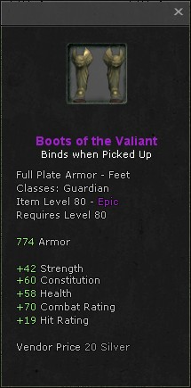Boots of the valiant