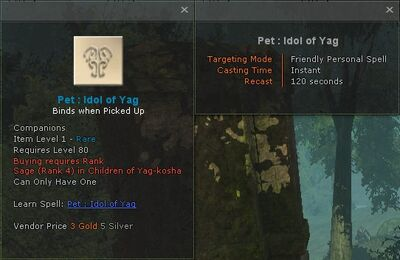 Pet idol of yag