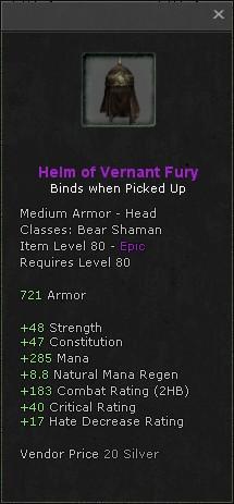 Helm of vernant fury