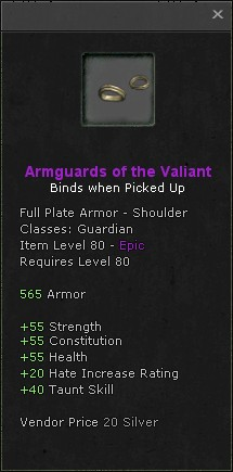 Armguards of the valiant