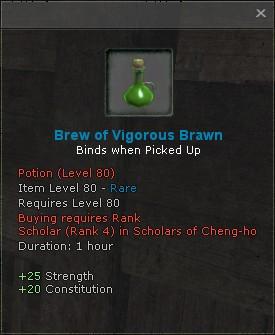 Brew of vigorous brawn