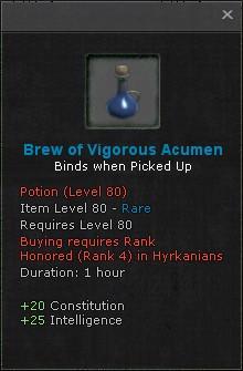 Brew of vigorous acumen