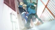 Ep 1 Tachibana punches her door