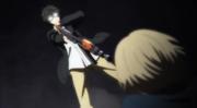 Ep 3 Yukimura aims a gun on Tachibana