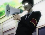 Ep 06 Kamenashi Soji with bullhorn