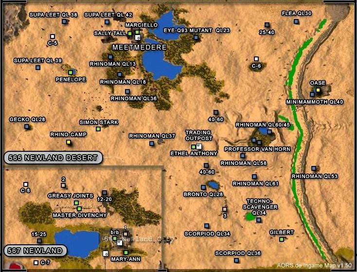 Aors map newland desert