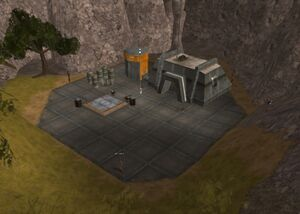 Cyborg barracks entrance