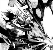 Rin destroys the Gehenna Gate