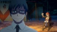 Yukio and Shura see Rin's flames