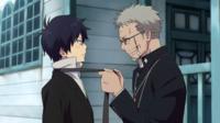 Shiro ties Rin's tie