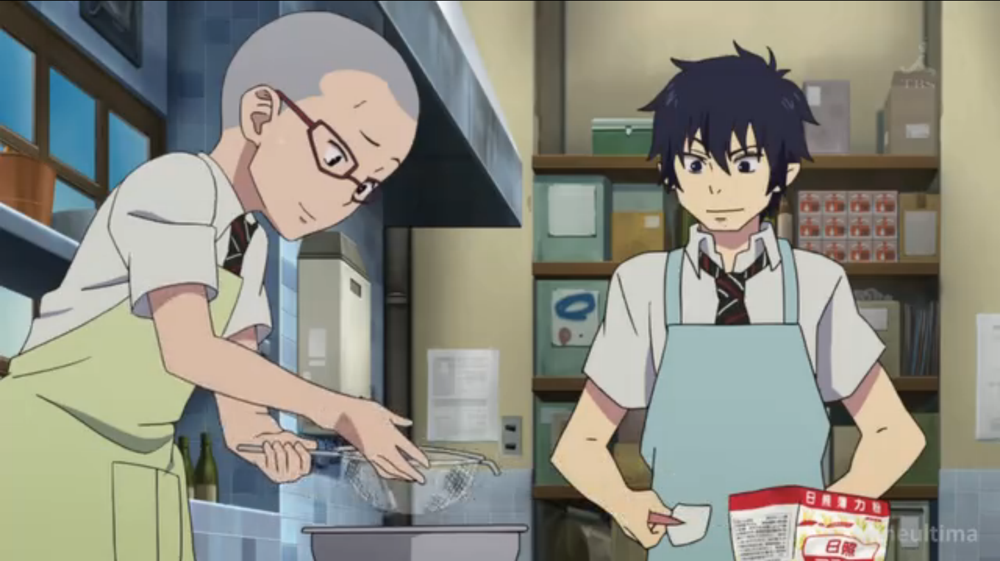 Image Konekomaru and Rin making a cakepng Ao no Exorcist Wiki