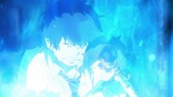 Rin protegiendo a Satoru
