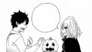 Shiemi le dice a Rin que quiere ir con Yukio