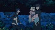 Yukio atrapa a Shiemi