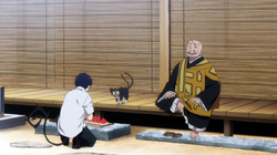 Rin hablando con Tatsuma