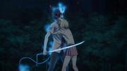 Shiemi logra calmar a Rin