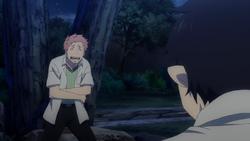 Shima riéndose con Rin