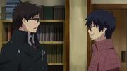 Rin le pide a Yukio ir con él