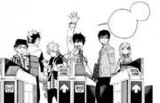 Los exwire y Yukio se dirigen a salvar a Izumo