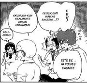 Todos se sorprenden por la comida de Rin