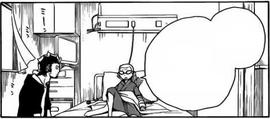 Ryuji y Konekomaru en la efermeria
