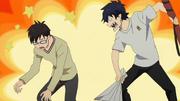 Rin golpea a Yukio