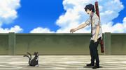 Rin logra calmar a Kuro