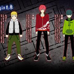 Takeshi, Takuro and Naoki.
