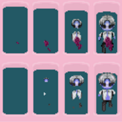 All of the unused part of Ryota Drowned, it seems that at the top, there is an injured Ryota injured, below Ryota Drowned used in Version 1, and below, an undead Ryota, injured/drowned Ryotas out of the bath.