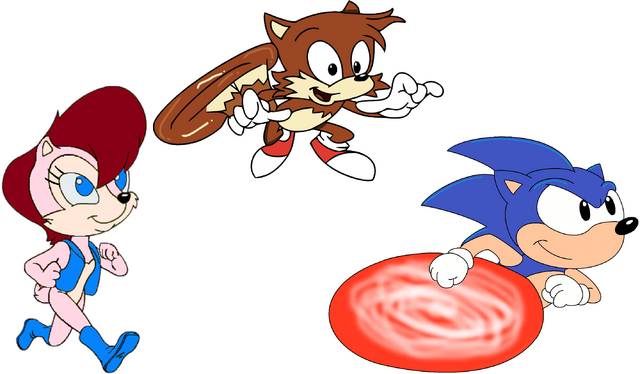 File:AOSTH - Sally Tails and Sonic.png