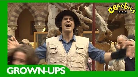 CBeebies Grown-Ups Andy's Dinosaur Flashmob