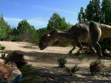 Allosaurus and Dragonfly