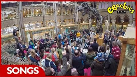 CBeebies Andy's Prehistoric Adventures - T-Rex Rap Flash Mob