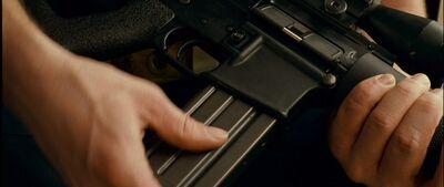 Olumpic arms mag into gun