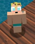 Levin in his swimming trunks