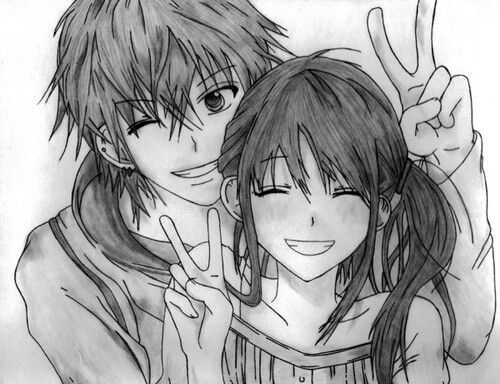 A56f719a01691eeaec606fcee8b60dff love drawings couple anime couples drawings jpg