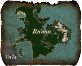 Ru'aun Region Map