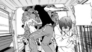 11 Iwakura throws the Bokor out of the van