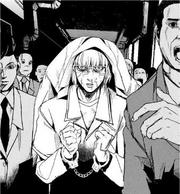 34 Yamanoi in handcuffs