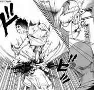 13 Riku crushes an Inmates head