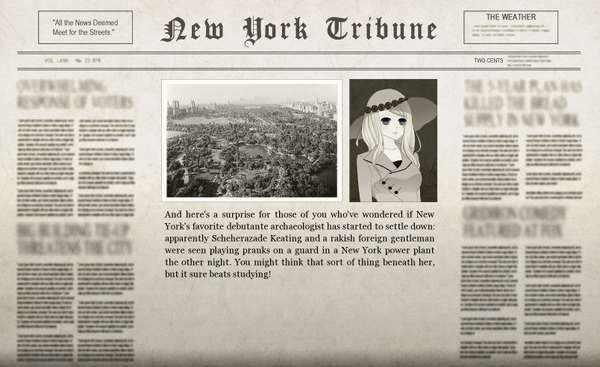 The Zul in New York Adventure Newspaper