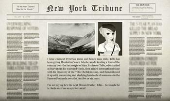 Ahmose Peruvian Adventure Newspaper