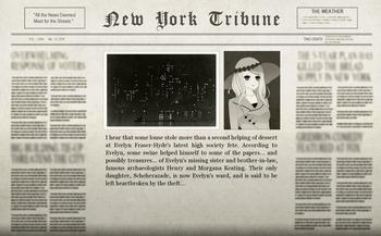 Beginning of the Game Main Adventure Newspaper