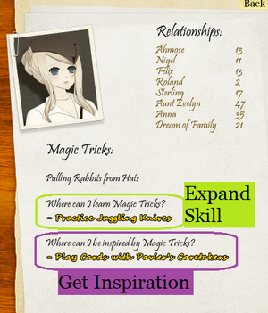 Skill Insipration and Expand