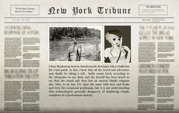 Sterling Indian Adventure Newspaper