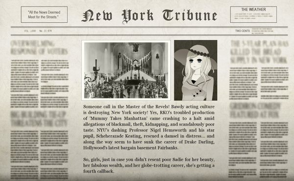 The Big Movie Star Adventure Newspaper