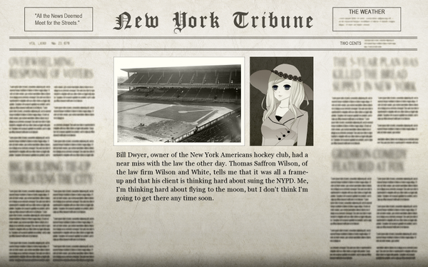 The Ebbets Field Frame-Up Adventure Newspaper