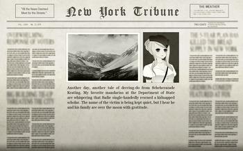 The Stolen Scholar Adventure Newspaper